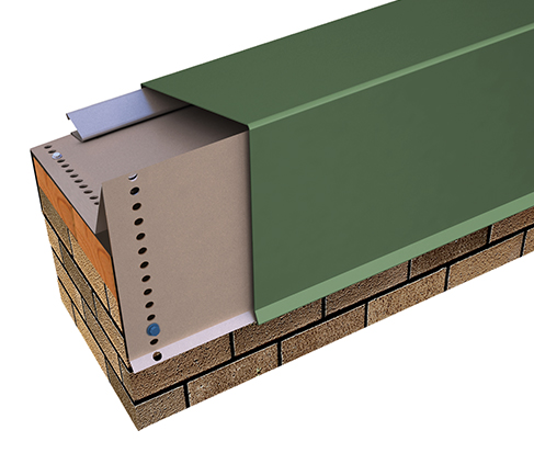 "Perma-Tite Coping Existing Slope without Nailer Over 6"" to 12"" Face Height, Masonry"