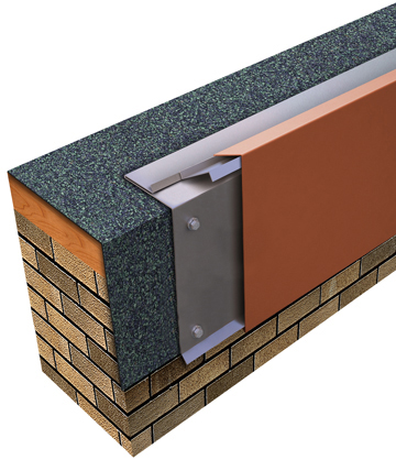 One Edge Extended Fascia Built-up or Modified